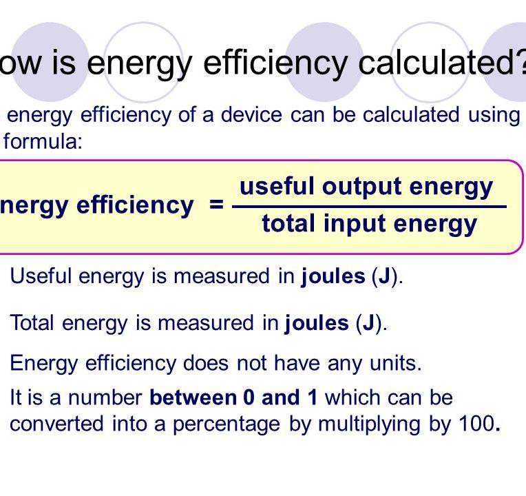 Energy efficiency calculation